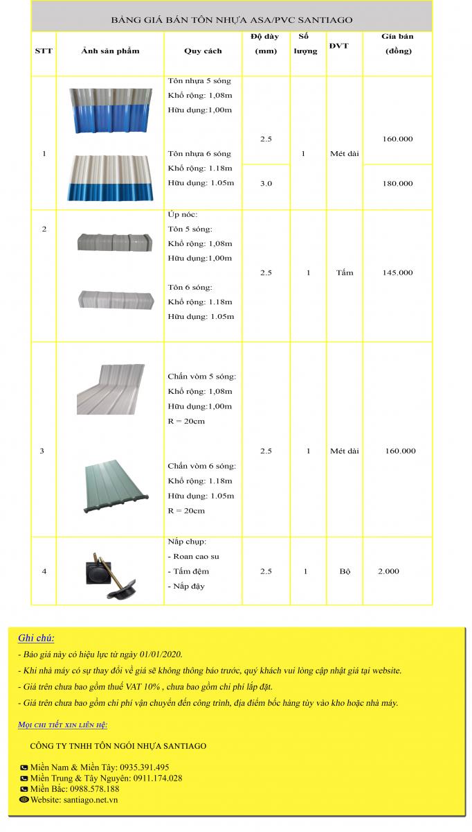 giá tôn nhựa pvc