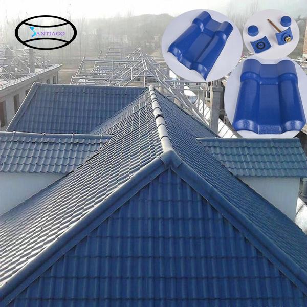 mái ngói nhựa màu xanh
