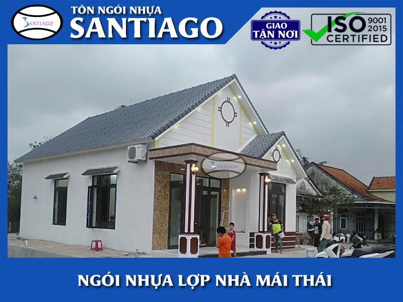 ngói nhựa santiago lợp nhà mái thái đẹp và bền