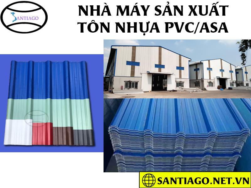 nhà máy sản xuất tôn nhựa pvc asa