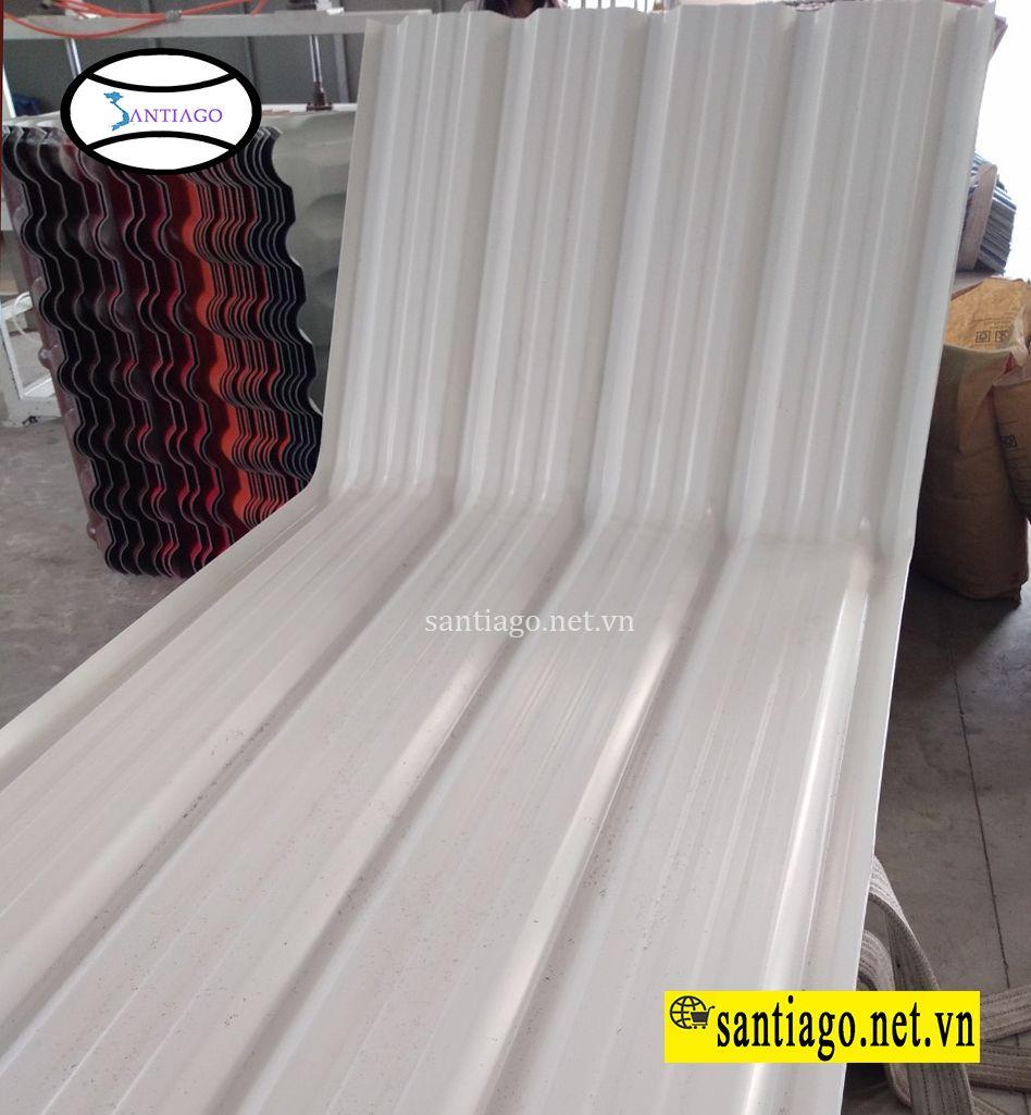 tấm vòm mái tôn nhựa pvc asa 5 sóng