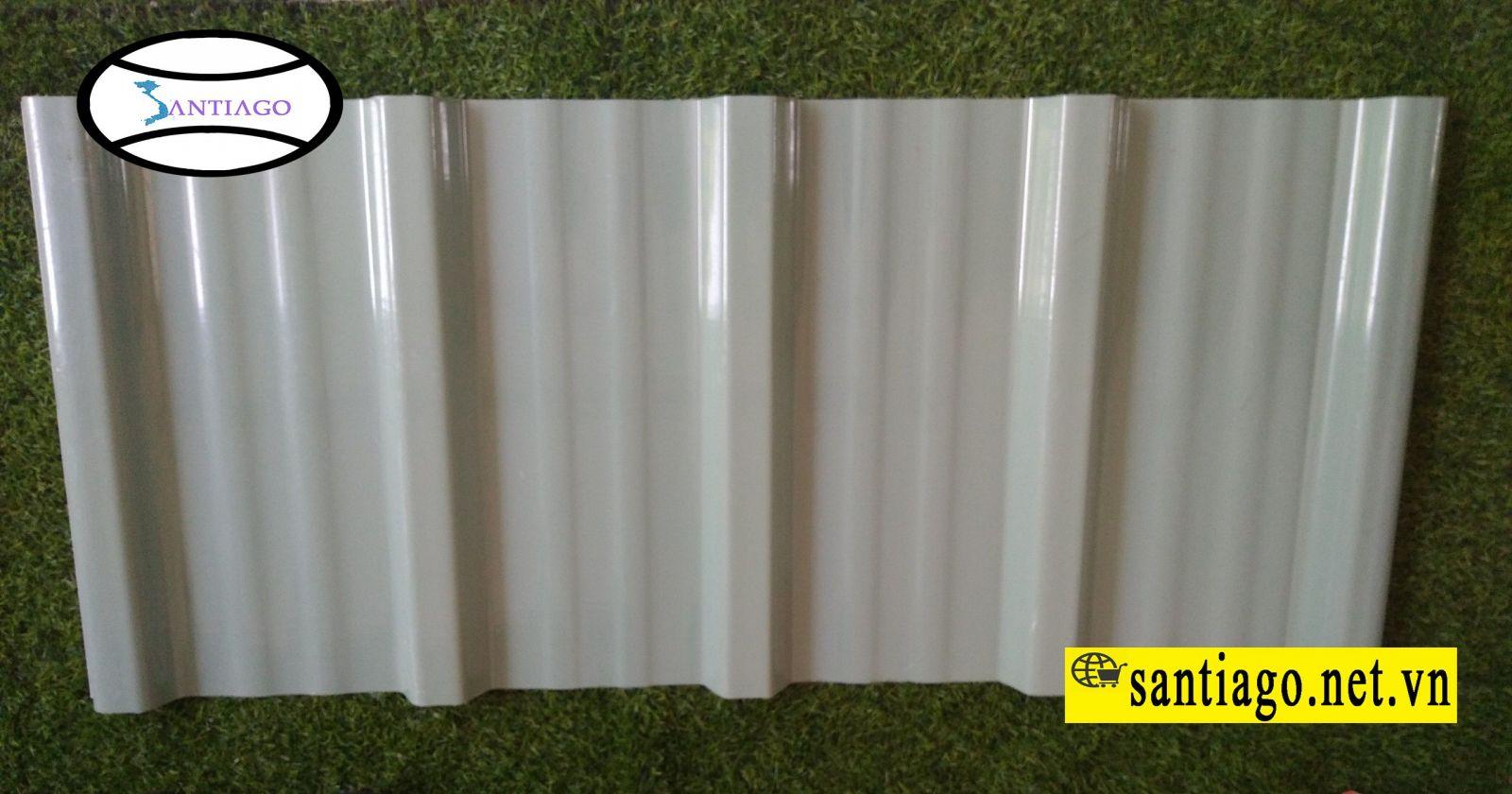 tôn nhựa 5 sóng màu xanh ngọc trắng sữa