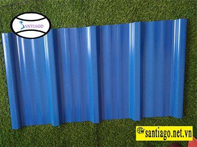 tôn nhựa sóng màu xanh